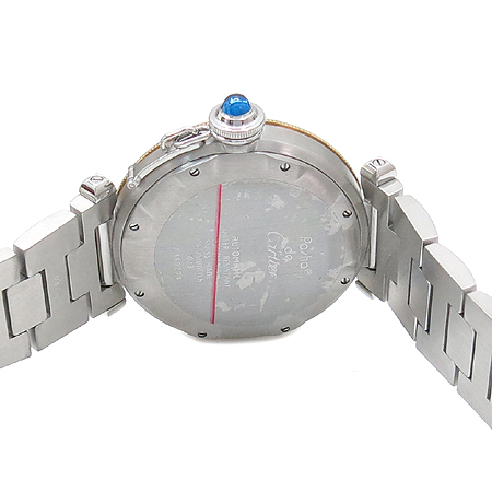 Cartier(까르띠에) W31012H3 파샤 38mm 18K(750) 옐로우 골드 베젤 오토매틱 파워리저브 스틸 밴드 남여 공용 시계