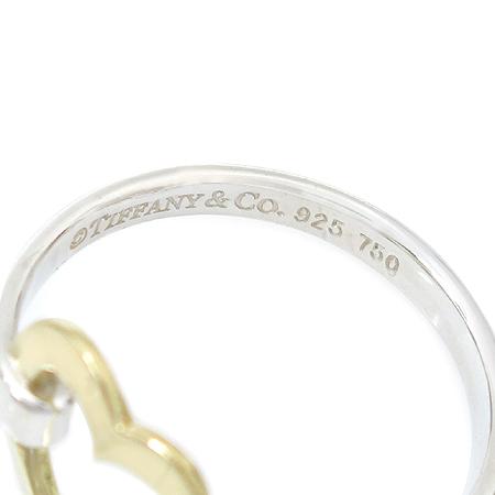 Tiffany(티파니) 925(실버) + 18K 골드 콤비 오픈하트 반지