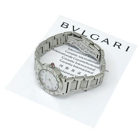 Bvlgari(불가리) BBL26S 신형 12포인트 다이아 자개판 스틸 여성용 시계 이미지5 - 고이비토 중고명품