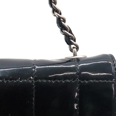 Chanel(샤넬) 블랙 페이던트 블럭패턴 체인 숄더백 [잠실점]