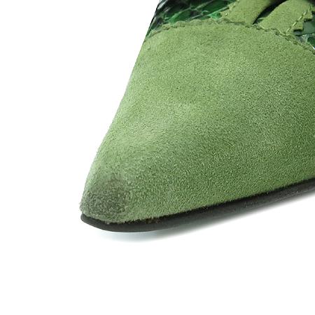 D&G(돌체&가바나) 리본 장식 파이손 스웨이드 펌프스 여성용 구두