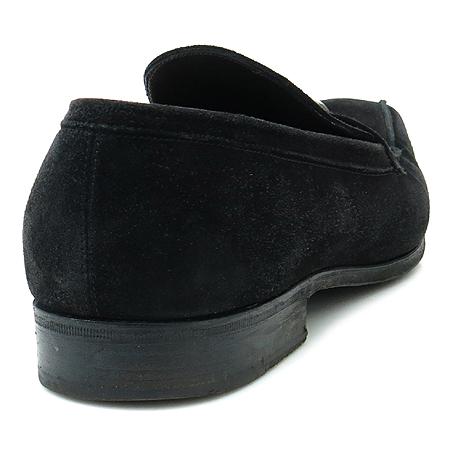 Ferragamo(페라가모) 메탈 간치니 장식 블랙 스웨이드 남성용 로퍼