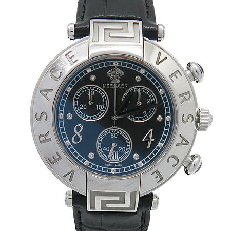 Versace(베르사체) 68C99D009 S009 크로노그래프 6P 다이아 가죽밴드 여성용 시계