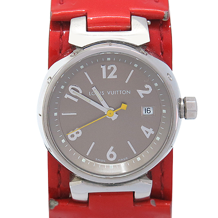 Louis Vuitton(루이비통) Q12127 땅부르 S 쿼츠 베르니 밴드 여성용 시계