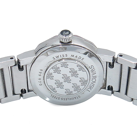 Swarovski(스와로브스키) 999 970 베젤 장식 자개판 스틸 밴드 여성용 시계