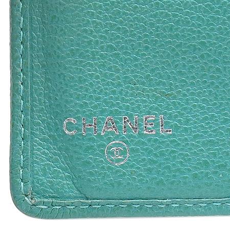 Chanel(샤넬) COCO 로고 소프트 캐비어 스킨 까멜리아 장지갑