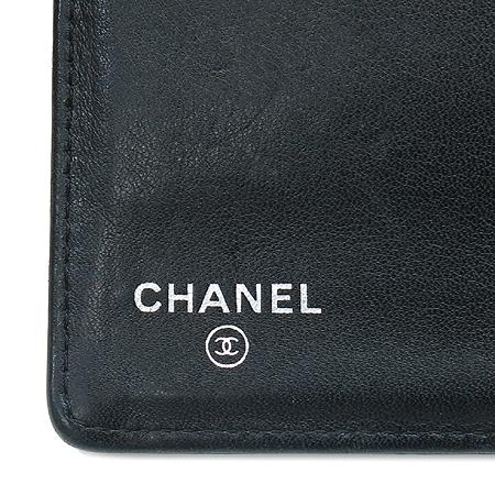 Chanel(샤넬) 은장 COCO로고 장식 페이던트 장지갑