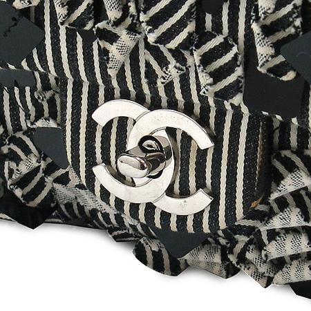 Chanel(샤넬) 패브릭 스팽글 장식 클래식 은장 체인 숄더백