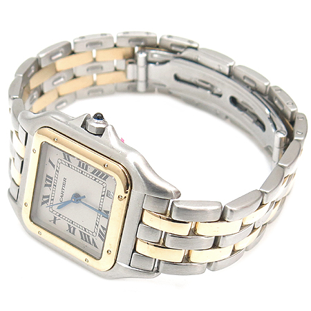 Cartier(까르띠에) 18K 두줄콤비 팬더 M사이즈 남성용 시계 이미지2 - 고이비토 중고명품