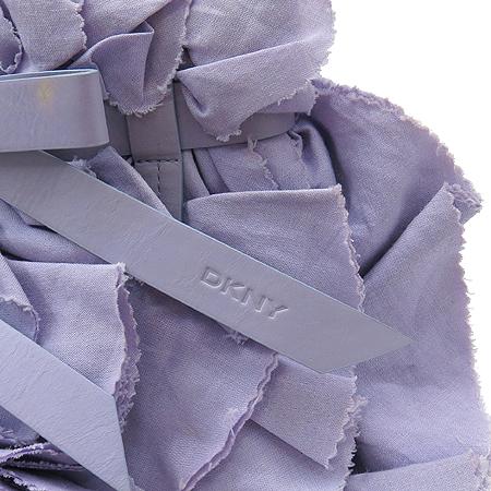DKNY(도나카란) 퍼플 패브릭 리본 장식 토트백