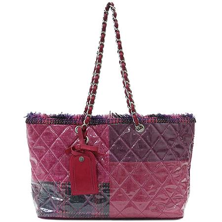 Chanel(샤넬) 글로시 트위드 PVC 쇼퍼 체인 숄더