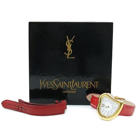 YSL(입생로랑) 하트 플래임 가죽 밴드 여성용 시계