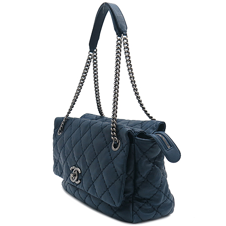 Chanel(샤넬) 빈티치 COCO 로고 장식 CALFSKIN(카프스킨) TOPSTIRCH(탑스티치) 빈티지 체인 숄더백