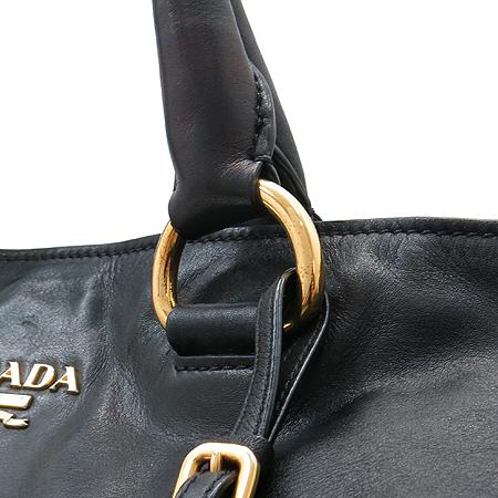 Prada(프라다) BN1713 금장 로고 장식 블랙 레더 2WAY [명동매장]