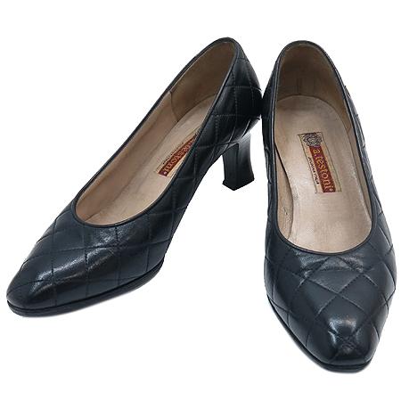A.testoni(테스토니) 블랙 레더 여성용 구두