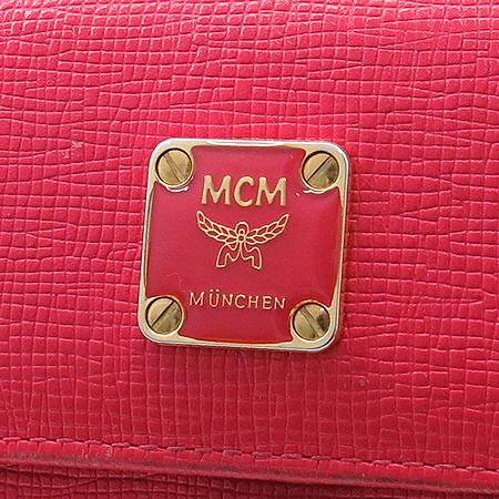 MCM(엠씨엠) 10330800  금장 로고 장식 레더 중지갑