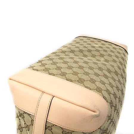 Gucci(구찌) 247220 GG로고 자가드 핑크 레더 트리밍 쇼퍼 숄더백 [부천 현대점]