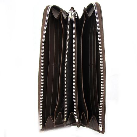 Tod's(토즈) 은장 로고 장식 브라운 레더 짚업 장지갑
