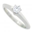 Tiffany(티파니) PT950 (플래티늄) 1포인트 다이아 (0.21 캐럿) VVS1 / G 컬러 웨딩 반지 [대구반월당본점]