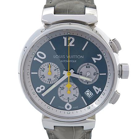 Louis Vuitton(루이비통) Q1120 땅부르 오토매틱 크로노 그래프 가죽 밴드 남성용 시계 [강남본점]
