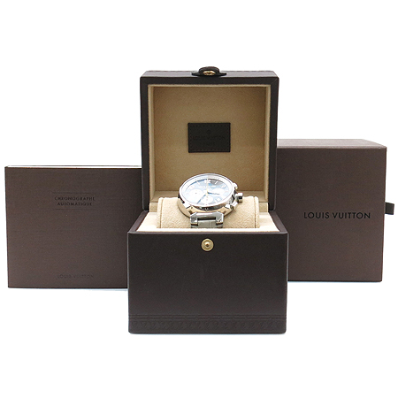 Louis Vuitton(루이비통) Q1120 땅부르 오토매틱 크로노 그래프 가죽 밴드 남성용 시계 [강남본점] 이미지2 - 고이비토 중고명품