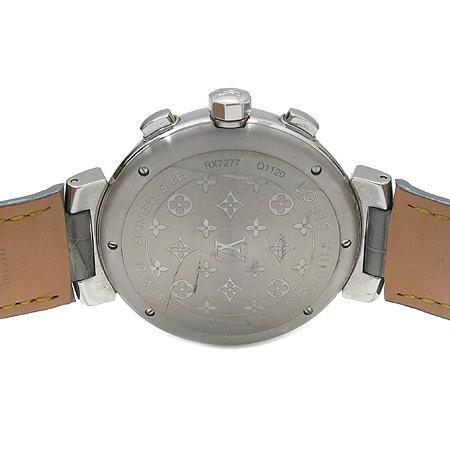 Louis Vuitton(루이비통) Q1120 땅부르 오토매틱 크로노 그래프 가죽 밴드 남성용 시계