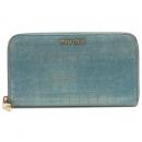 MiuMiu(미우미우) 5M0506 크로커다일 패턴 금장 로고 장식 지퍼 장지갑 [강남본점]