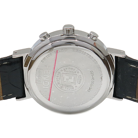 Fendi(펜디) F455110 쿼츠 크로노크라프 4500G Orologi 블랙가죽 밴드 남성용 시계