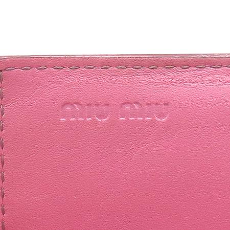 MiuMiu(미우미우) 금장 로고 페이던트 명함 지갑