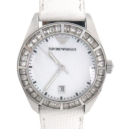 Armani(아르마니) AR0529 베젤 큐빅 자개판 여성용 시계
