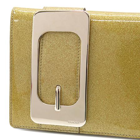 Gucci(구찌) 167731 금장로고 골드 브론즈 페이던트 래더 클러치백