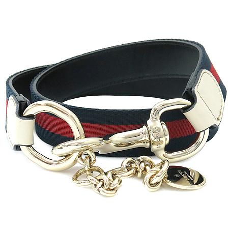 Gucci(구찌) 155086 삼색 스티치 금장 체인 로고 벨트