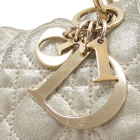 Dior(크리스챤디올)LMS449709G 까나쥬패턴 골드 메탈릭 금장체인 더블유(W) 숄더백