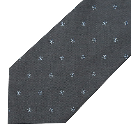 Armani(아르마니) 미니 스퀘어 패턴 다크 그레이 넥타이