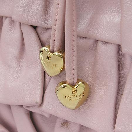 LOVCAT(러브캣) 핑크 래더 리본 장식 숄더백
