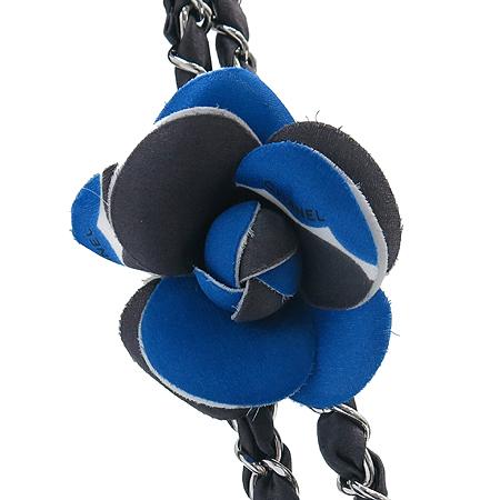 Chanel(샤넬) 실크 파이핑 램스킨 엠보 은장 체인 리본 브로치 숄더백