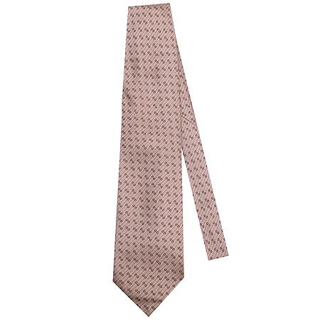 Gucci(구찌) GG로고 패턴 연 핑크 컬러 100% 실크 넥타이