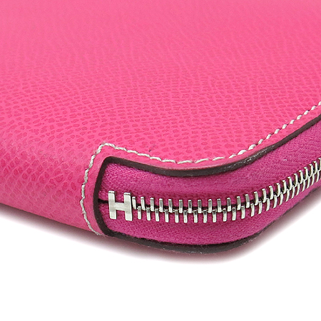Hermes(에르메스)  실크혼방 아잡(AZAP) 짚업 장지갑