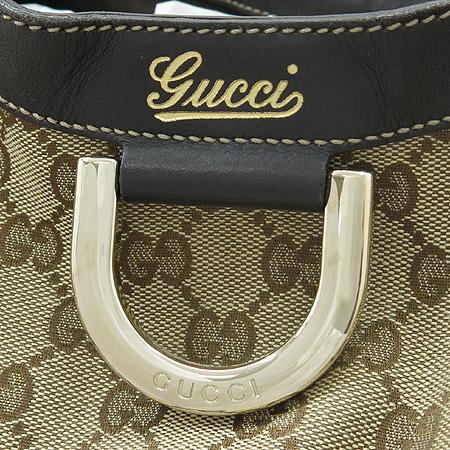 Gucci(구찌) 189835 GG 로고 쟈가드 금장 D링 브라운 래더 트리밍 숄더백