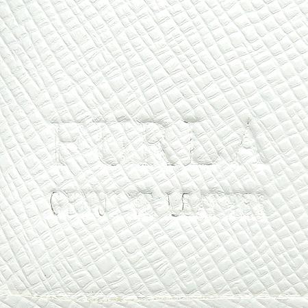 FURLA(훌라) 화이트 사피아노 래더 중지갑