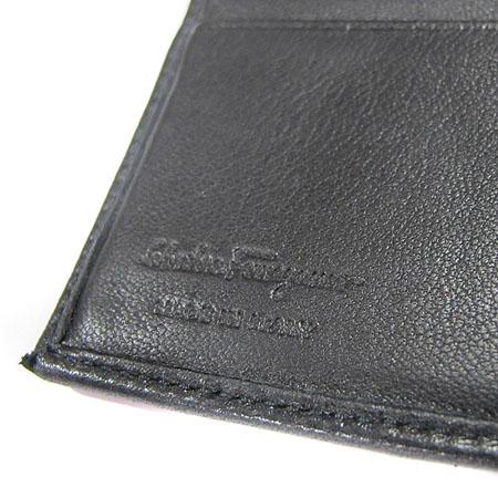 Ferragamo(페라가모) 66 9126 은장 로고 장식 블랙 레더 머니클립 이미지3 - 고이비토 중고명품