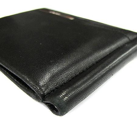 Ferragamo(페라가모) 66 9126 은장 로고 장식 블랙 레더 머니클립 이미지4 - 고이비토 중고명품