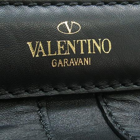 VALENTINO(발렌티노) CWB00289 블랙 래더 금장 스터드 장식 금장 체인 2WAY