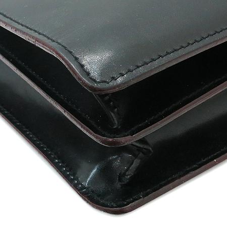 CANALI(카날리) 블랙 래더 남성용 서류 가방