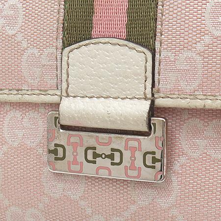Gucci(구찌) 146206 GG 로고 자가드 삼색 스티치 장지갑