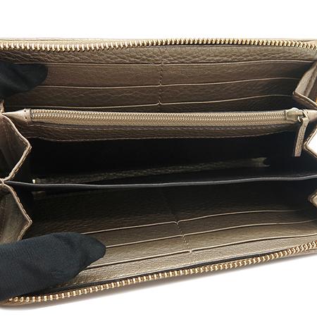 Gucci(구찌) 269991 골드 브론즈 래더 뱀부 테슬 장식 집업 장지갑