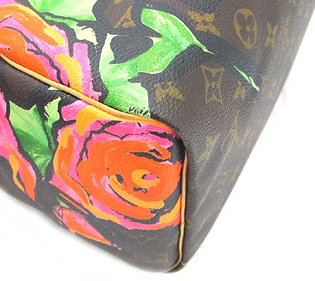 Louis Vuitton(루이비통) M48610 모노그램 캔버스 스테판 스프라우스 컬렉션 로즈 스피디 30 토트백 이미지4 - 고이비토 중고명품