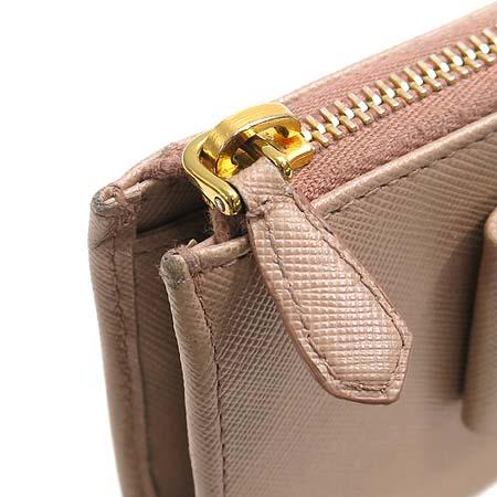 Prada(프라다) 1M1132 사피아노 레더 리본장식 금장로고 장지갑