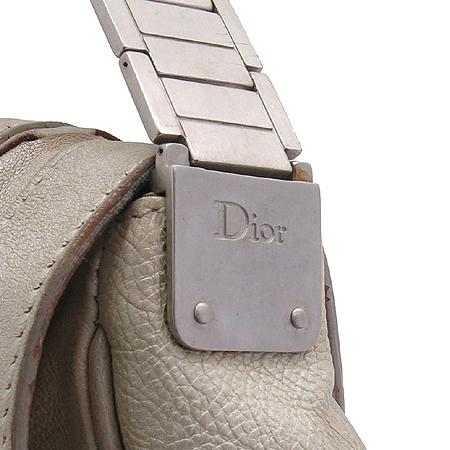 Dior(크리스챤디올) 아이보리래더 가우쵸 한정판 원 포켓 스틸밴드 숄더백