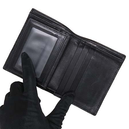 Ferragamo(페라가모) 66 8976 은장 로고 블랙 래더 남성 반지갑